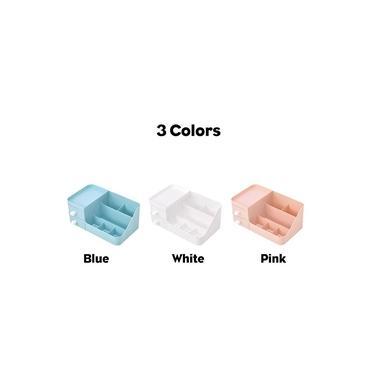 Tipo de gaveta Caixa de armazenamento de cosméticos Organizador de maquiagem Joias Esmalte de unhas Recipiente de maquiagem para mesa de trabalho Cômoda com acabamento