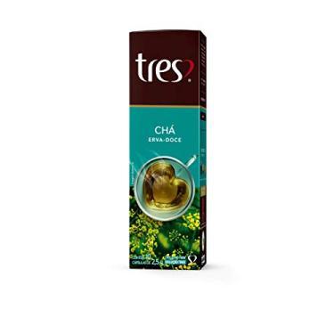 Cápsula de Chá, Erva Doce, 10 Unidades, Tres, 3 Corações