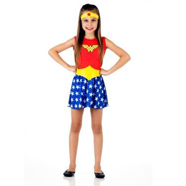 Imagem de Fantasia Mulher Maravilha Verão Infantil - Liga da Justiça G