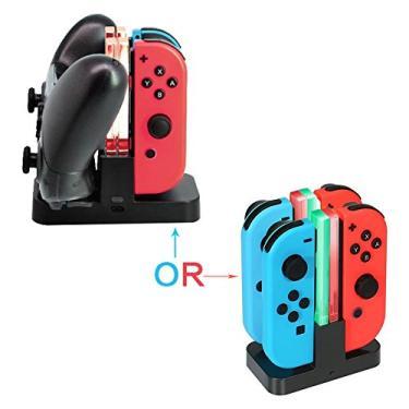 Switch Pro Controller Carregador duplo Nintendo Switch Joy-Con Dock Station Station Stand com indicação LED com cabo livre tipo C [video game]