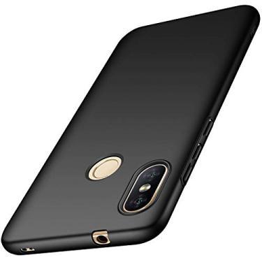 "Capa Protetora Anti Impacto Para Xiaomi Mi A2 Lite Tela De 5.84"" Capinha Fosca De Acrílico - Preta"