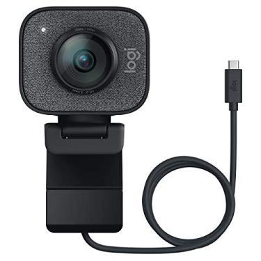 Webcam Full HD Logitech StreamCam Plus para Streaming e Criação de Conteúdo com Microfone Embutido, Conexão USB-C e Tripé Incluso - Compatível com Logitech Capture
