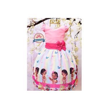 Vestido Moana Baby Rosa Infantil
