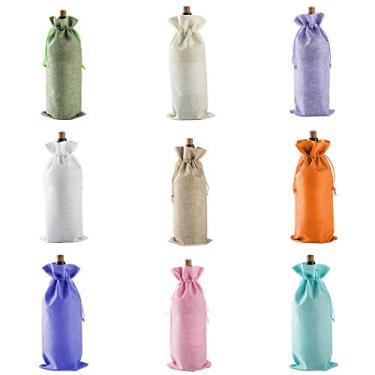 JUSTDOLIFE 10 pçs capa de garrafa de vinho simples saco de garrafa de vinho decoração de mesa de jantar