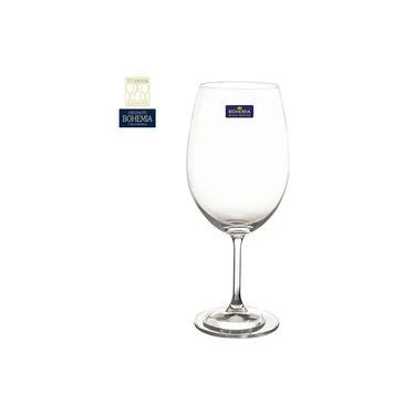Jogo 12 Taças de Vinho em Cristal Bohemia 580ml