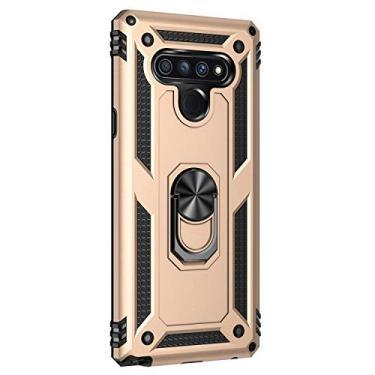 Hicaseer Capa para LG Stylo 6, policarbonato + TPU antiqueda antichoque anti-arranhões magnético rotação de 360 graus capa completa para LG Stylo 6 – Dourado