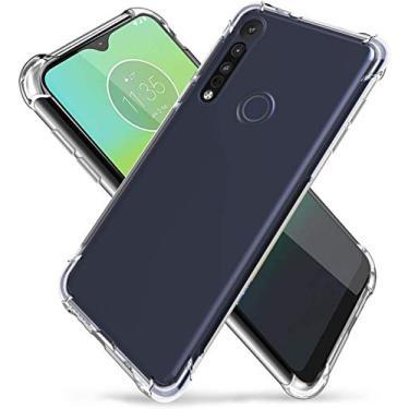 Capa Protetora Para Motorola Moto G8 Play E One Macro Tela De 6.2 Polegadas Capinha Case Transparente Air Anti Impacto Proteção De Silicone Flexível - Danet