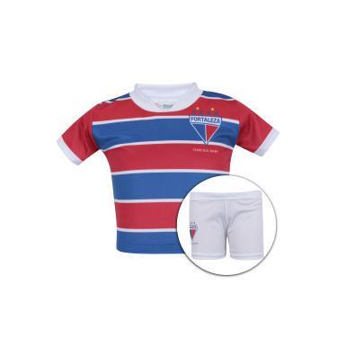 1be08bada4366 Kit de Uniforme de Futebol do Fortaleza para Bebê  Camisa + Calção -  Infantil -
