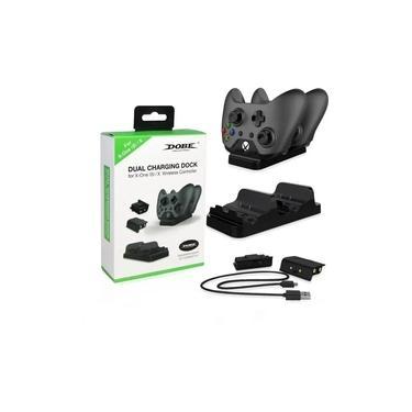 Base Dock Carregador 2 Controle Xbox One S X + 2 Baterias