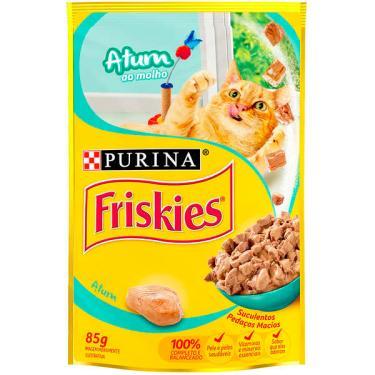 Ração Úmida Nestlé Purina Friskies Atum ao Molho para Gatos Adultos - 85 g