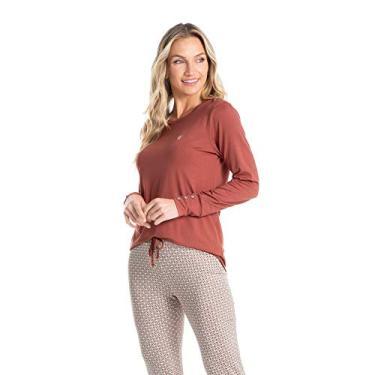 Pijama Legging Estampado Vanessa Bege/M