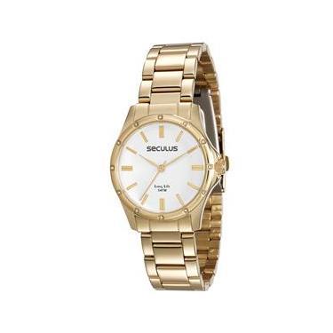 69a92ab35cd Relógio Feminino Analógico Seculus 25536LPSVDA1 - Dourado