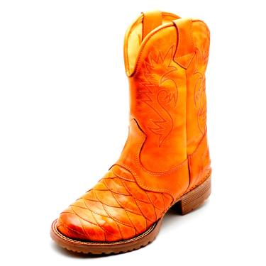 Bota Clube do Sapato de Franca Country Texana Esc. Arizona Bege  masculino