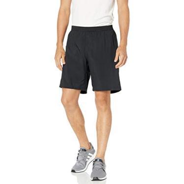 Bermuda masculina Adidas Run It, Black/Logo, Medium