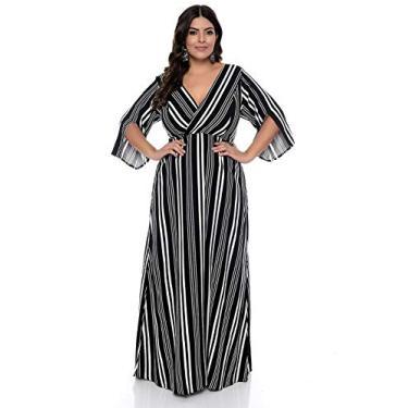 Vestido Plus Size Longo Listrado Brenda-54