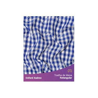 Imagem de Toalha De Mesa Retangular Em Oxford Xadrez Azul Royal