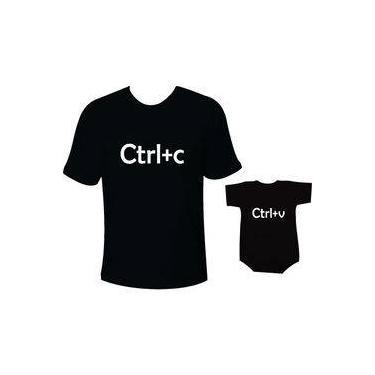 Camiseta E Body Tal Pai Tal Filho Ctrl C Ctrl V