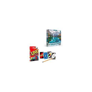 Imagem de Puzzle 500 Peças Alpes Italianos + Jogo De Cartas Uno Mattel