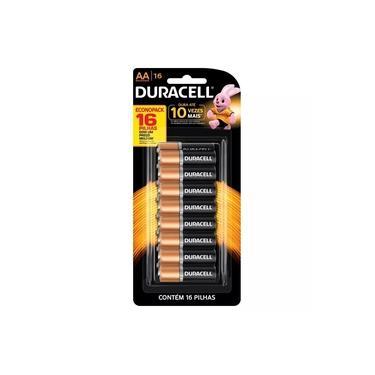 Pilha alcalina Duracell AA - cartela com 16 unidades