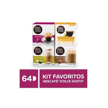 Kit de Cafés e Lattes Favoritos Nescafé Dolce Gusto - 64 capsulas