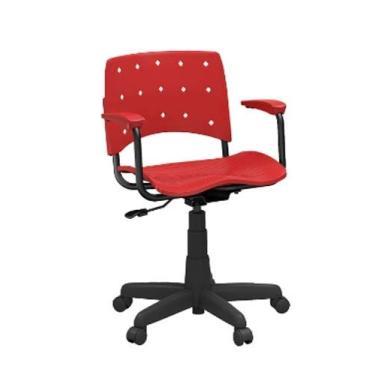 Cadeira Giratória Secretária Cereja com Braço - Plaxmetal