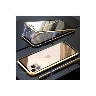 Capa Case Magnética Blindada Apple iPhone 11 Pro Max - Dourado