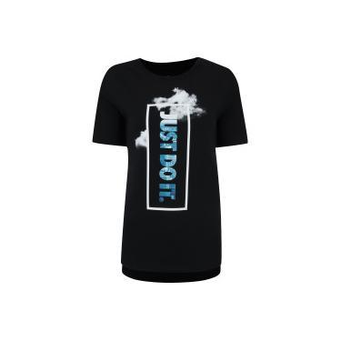 aa3509fbf5 Camiseta Nike Sportswear Rop Tail JDI - Feminina - PRETO BRANCO Nike