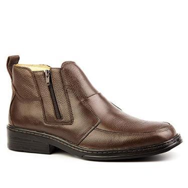 Botina Masculina 916 em Couro Floater Café Doctor Shoes-Café-37