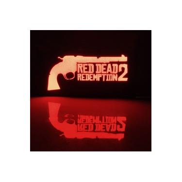 Luminária Gamer Exclusiva Jogo Red Dead Redemption 2 De Led