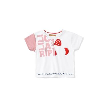 Blusa Lilica Ripilica Branco Bebê Menina - 10110814