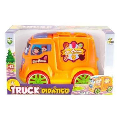 Imagem de Brinquedo Bebe - Caminhao Didatico Colorido Enchaixe Peças - Bs Toys
