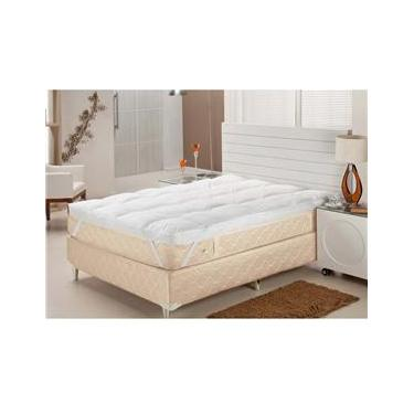 Imagem de Pillow Top Queen Plumasul Fibra Siliconizada em Flocos Percal 233 fios - Branco