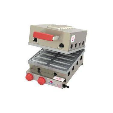 Máquina De Crepe Crepeira A Gás Progás 12 Cavidades Prk-120g Style