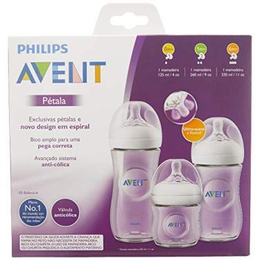 Imagem de Mamadeiras Petala Transparentes - Triplo Pack 125ml, 260ml e 330ml, Philips Avent, Transparente