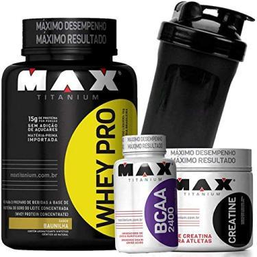 Kit Suplementos para aumentar massa - Whey/Wey/Way Protein + BCAA + Creatina + Coque. - Chocolate