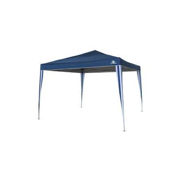 Gazebo Tenda Dobravel Sanfonado Pratiko Azul 3x3m Guepardo
