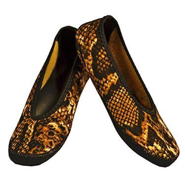 Sapatilhas de balé Nufoot Fuzzies, Gold Snake, XLarge