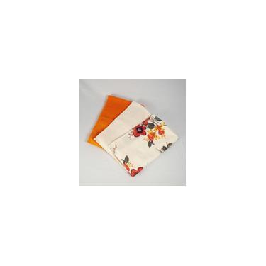Imagem de Kit 03 Toalhas de Rosto Itália Floral Coral Laranja Pérola