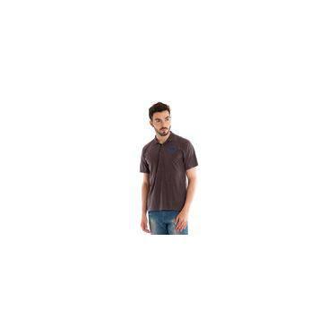 21df212addab8 Camisa Polo Manga Curta Marrom Claro