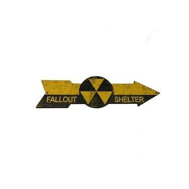 Placa Deativa Personalizada Madeira Seta Fallout Shelter