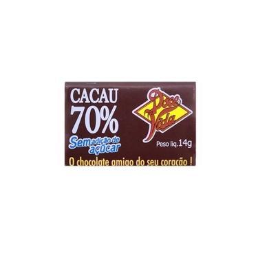 Chocolate 70% cacau sem açúcar doce vida