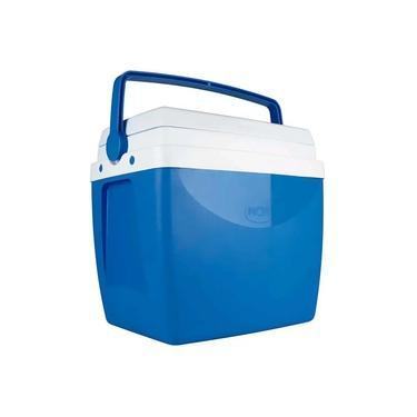 Caixa Térmica 26 Litros Cooler Com Alça Transporte Praia Piscina Verão Camping Média 35 Latinhas Azul Mor