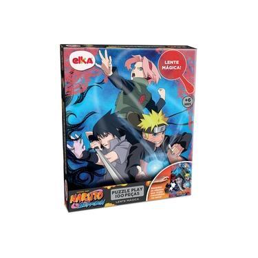 Imagem de Quebra Cabeça Naruto 100 Peças Com Lente Mágica - Elka Brinquedos