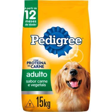 Ração Seca Pedigree Carne e Vegetais para Cães Adultos Raças Médias e Grandes - 15 Kg