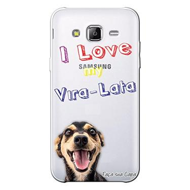 Capa Personalizada para Samsung Galaxy J3 2016 Eu Amo Meu Vira-Lata - TP86