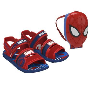 Sandália Marvel Pack Grendene Kids  masculino