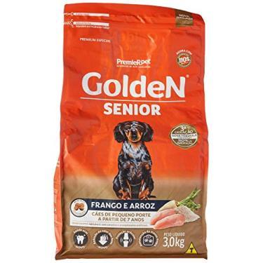 Ração Golden Fórmula Mini Bits Senior para Cães Adultos de Pequeno Porte Sabor Frango e Arroz, 3kg Premier Pet Para Todas Pequeno Idosos,