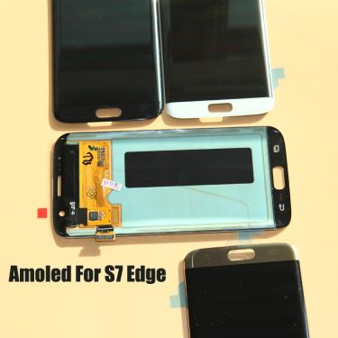Super amoled para samsung galaxy s7 edge g935 g935f display lcd digitador da tela de toque