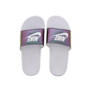 6e81fb5b58 Chinelo Nike Benassi JDI Print - Slide - Feminino - BRANCO Nike