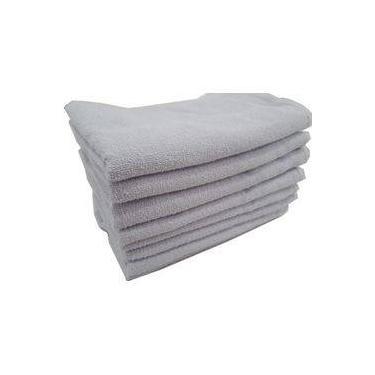 Imagem de Kit 50 Toalhas Rosto Branca para Salão e Barbearia 45x70cm